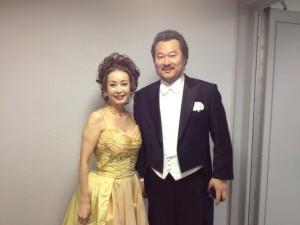 2013.1.18.ニューイヤーコンサートで韓国のテノール、イ・ヒョン氏と「ボエーム」のデュエット